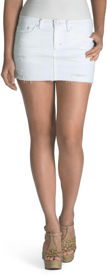 Levi's Juniors Low Rise Mini Skirt Winter White | Where to buy ...