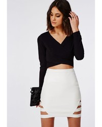 White Leather Skirt - Dress Ala