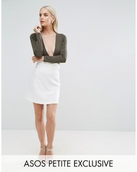 Asos Petite Petite Corset Mini Skirt With Ring Detail