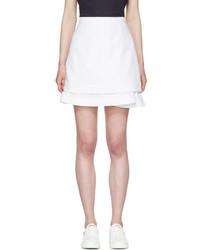 White peplum miniskirt medium 3699867