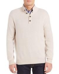 Luciano Barbera Cashmere Mockneck Sweater