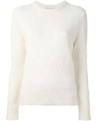 White Mohair Crew-neck Sweater