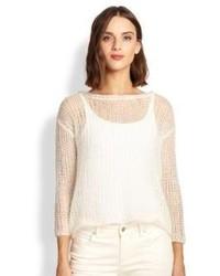 Eileen Fisher Mohair Blend Mesh Sweater