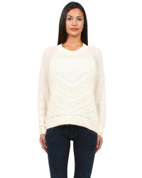 Helmut Lang Helmut Mohair Sweater In Natural White
