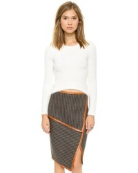 Jonathan simkhai mohair kate crop sweater medium 80590