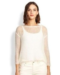 Eileen Fisher Mohair Blend Mesh Sweater