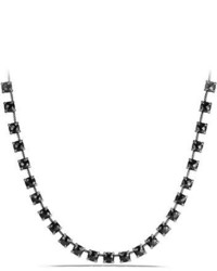 9mm chtelaine linear hematine necklace with diamonds medium 708391