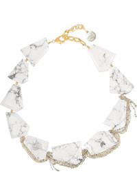 Gemma Redux Gold Plated Howlite Necklace