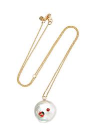 Of Rare Origin Lady Luck Gold Vermeil Multi Stone Necklace