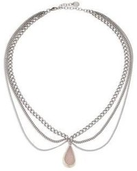 Chan Luu Layered Chain White Agate Necklace