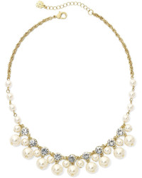 jcpenney Monet Jewelry Monet Simulated Pearl And Crystal Collar Necklace
