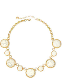 jcpenney Monet Jewelry Monet White Stone Gold Tone Collar Necklace