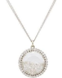 Renee Lewis Diamond White Gold Shake Pendant Necklace
