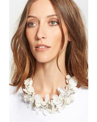 Fabiana Filippi Suede Flower Collar Necklace