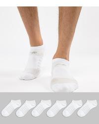 New Balance 6 Pack No Show Socks In White N4010 032 6eu Wht