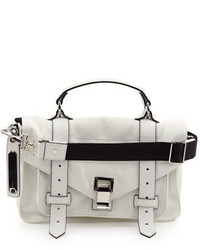 Proenza Schouler Ps1 Tiny Nylon Tote Bag Optic White
