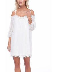 Bright White Off Shoulder Dress