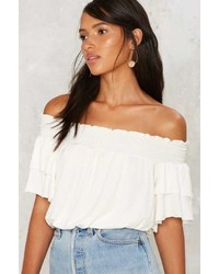 Nasty Gal All About U Off The Shoulder Crop Top