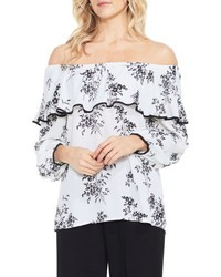 Vince Camuto Delicate Bouquet Off The Shoulder Blouse