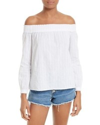 Rag & Bone Jean Drew Cotton Off The Shoulder Top