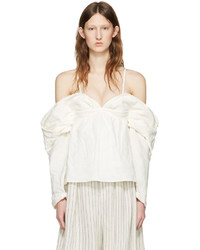 J.W.Anderson Jw Anderson Off White Off The Shoulder Top