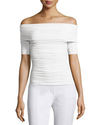The Row Nanja Off The Shoulder Jersey Top White