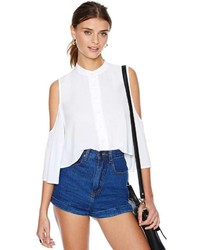 Nasty Gal Cold Shoulder Blouse