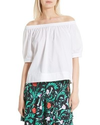 Kate Spade New York Off The Shoulder Poplin Top