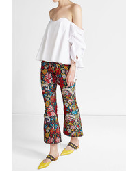 Caroline Constas Off Shoulder Cotton Blouse