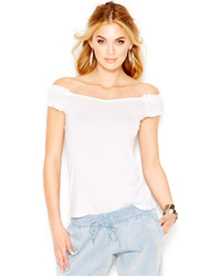 GUESS Off Shoulder Crop Blouse