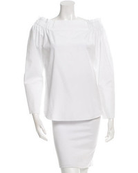 Tod's Off The Shoulder Long Sleeve Top