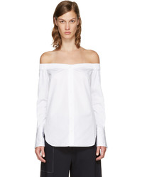Rag & Bone Rag And Bone Ssense White Kacy Off The Shoulder Blouse