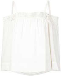 Rebecca Minkoff Drop Shoulder Lace Trim Blouse