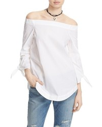Show me some shoulder off the shoulder cotton blouse medium 430093