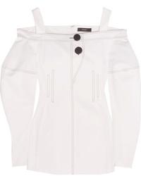 Ellery Sugar Off The Shoulder Cotton Twill Top White
