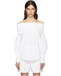 Emilio Pucci White Off The Shoulder Blouse