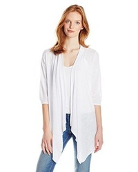 Allison Brittney 34 Sleeve Draped Collar Open Front Cardigan