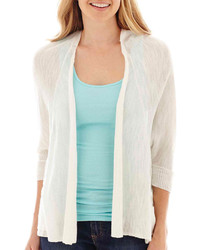 Women's White Cardigans from jcpenney | Lookastic