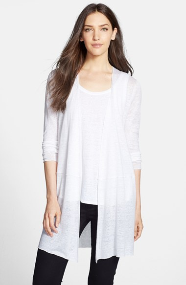 Eileen Fisher Long Linen Cardigan | Where to buy & how to wear