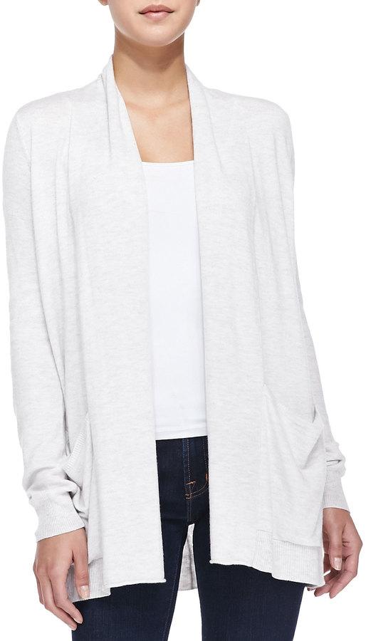 0ea0139ea9a ... White Open Cardigans Splendid Long Open Front Cardigan With Pockets ...