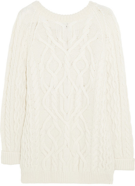 Mcq Alexander Ueen Oversized Cable Knit Wool Blend Sweater Where