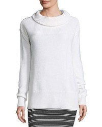 ATM Anthony Thomas Melillo Cozy Merino Pullover Sweater White