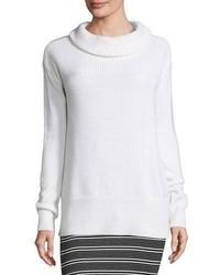 Cozy merino pullover sweater white medium 1316417