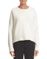 Drop shoulder wool blend crewneck sweater medium 842824
