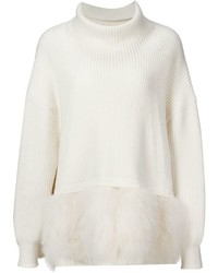 Oversized feather hem sweater medium 331576
