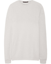 Haider Ackermann Oversized Wool Blend And Silk Satin Sweater