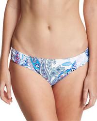 Paisley leaves shirred side hipster swim bikini bottom medium 1161501