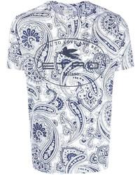 Etro Paisley Logo Printed T Shirt