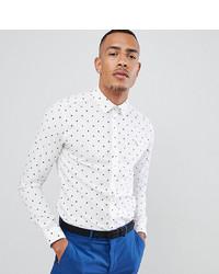 Farah Smart Farah Oakton Skinny Smart Shirt With Paisley Print In White