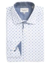 London midra trim fit paisley dress shirt medium 4912135